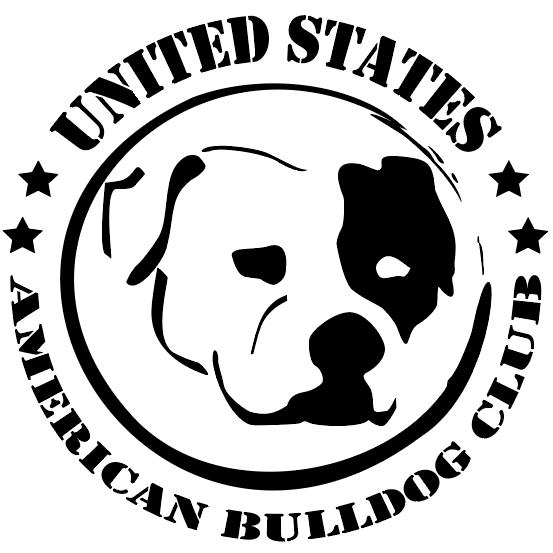 united states american bulldog club logo black & white